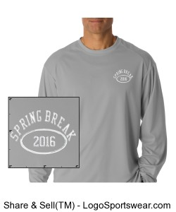 Badger Long Sleeve Performance Tee Design Zoom